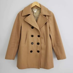 J. Crew Double-Breasted Wool Blend Peacoat Size XS